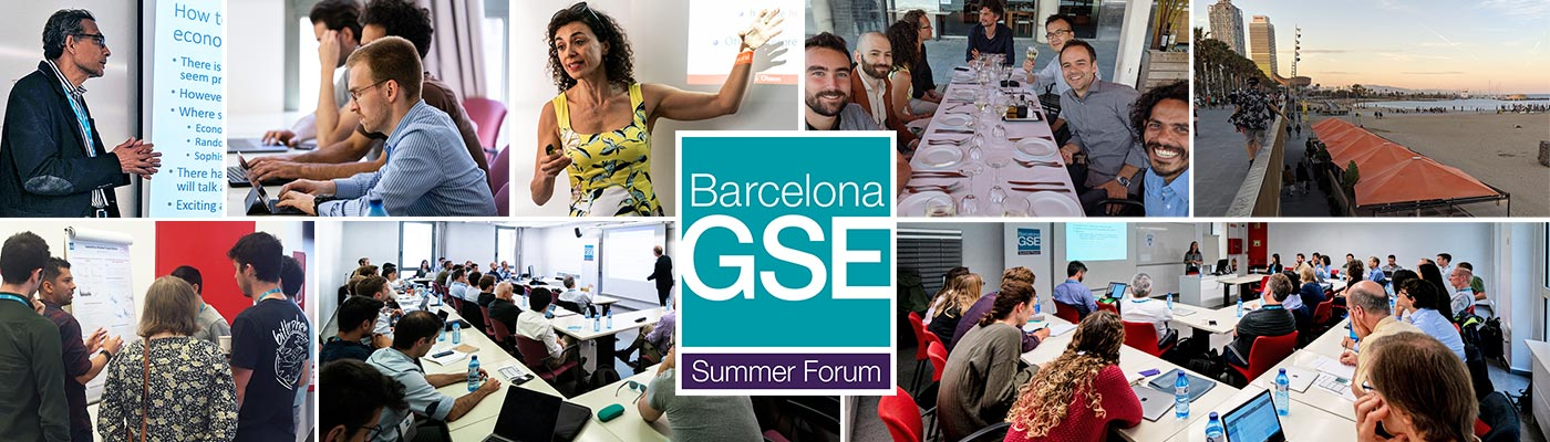 Presenters and activities of the Barcelona GSE Summer Forum 2019