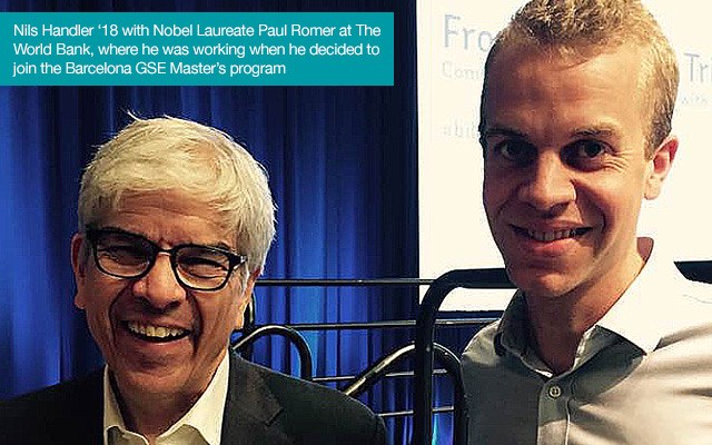 The author with Paul Romer