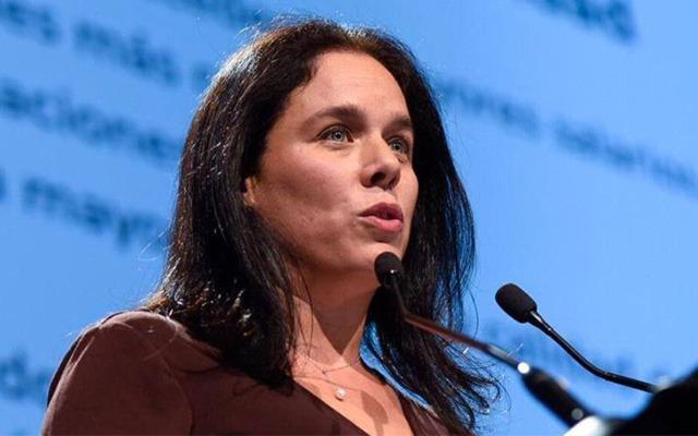 Carolina Grunwald speaking at a conference