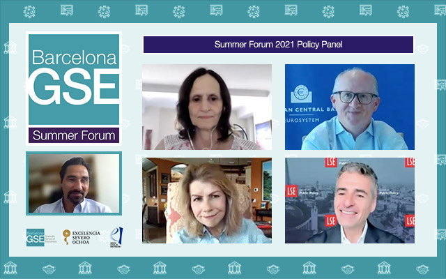 Screenshots of panelists during video conference