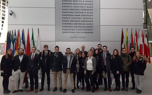 BSE Students visit the ECB