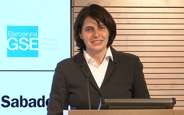 Hélène Rey delivers the 38th Barcelona GSE Lecture at Banc Sabadell