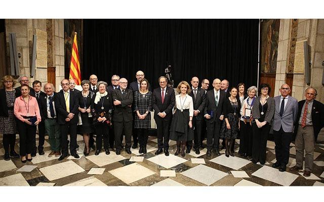 Award recipients at the Palau de la Generalitat