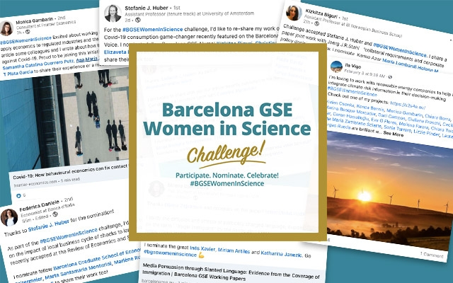 Screenshots of social media posts for Barcelona GSE Women In Science