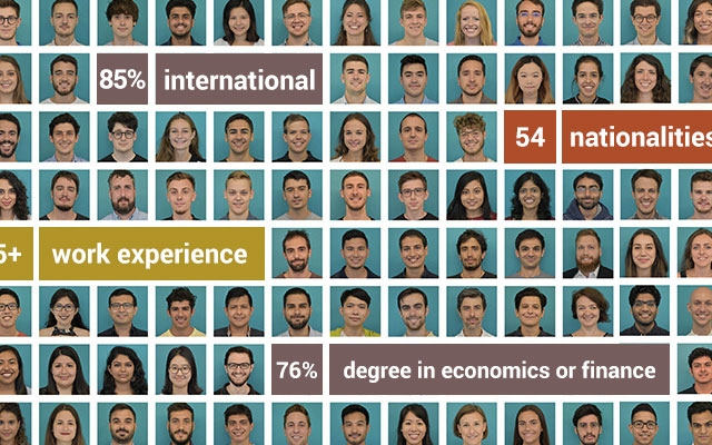 Faces of the Master's students