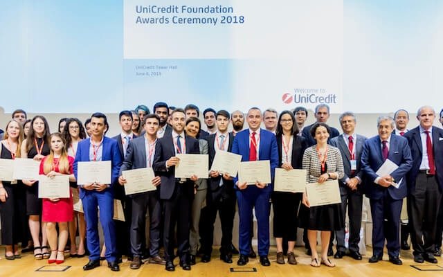 Award ceremony for Unicredit scholarships 2018