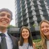 Alumni in front of Caixabank