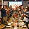 Alumni at a wine tasting in Barcelona