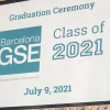Theater marquee announcing Class of 2021 Graduation Ceremony