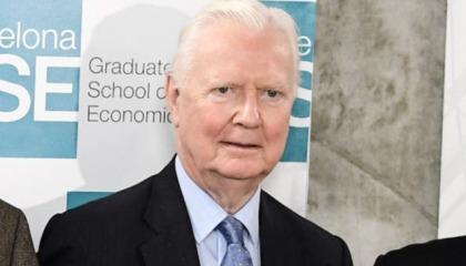 James Mirrlees, Nobel Laureate in Economics and member of the Barcelona GSE Scientific Council