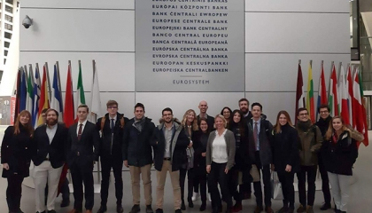 Barcelona GSE Students visit the ECB