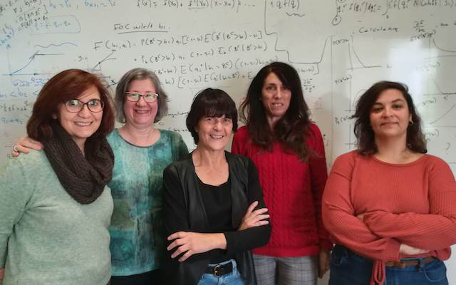 group of female researchers